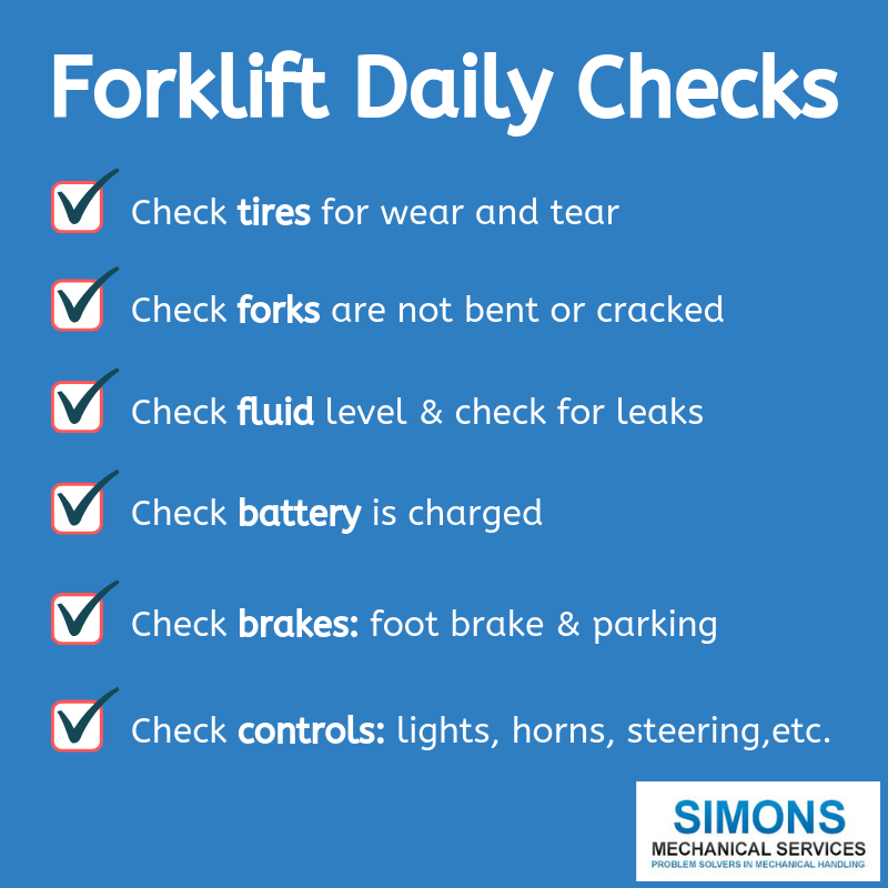 Forklift Daily Checklist