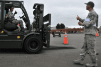 conducting forklift checks