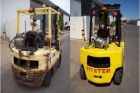 replacing a forklift